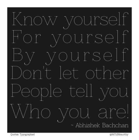 Abhishek Bachchan - Quote Typographed